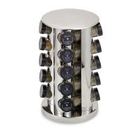 Kamenstein Stainless Steel 20-Jar Filled Revolving Spice Rack Tower
