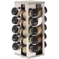 Kamenstein 20 Jar Stainless Steel Rotating Spice Rack