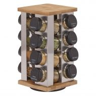 /Kamenstein Warner 16-Jar Revolving Spice Rack with Free Spice Refills for 5 Years