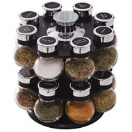 Kamenstein Ellington 16-Jar Revolving Spice Rack with Free Spice Refills for 5 Years