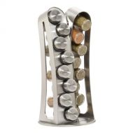 Kamenstein Stainless Steel 16-Jar Revolving Spice Rack with Free Spice Refills for 5 Years by Kamenstein