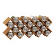 Kamenstein 18-Jar Criss Cross Organic Spice Rack