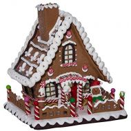 Kurt Adler 10 Battery-Operated Claydough LED Gingerbread House Tablepiece