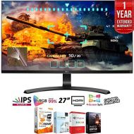 LG 27UD68-P 27 16:9 4K UHD (3840 x 2160) IPS FreeSync Monitor + Elite Suite 18 Standard Editing Software Bundle + 1 Year Extended Warranty