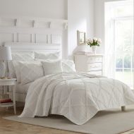 Laura Ashley Maisy Twin Quilt Set in White