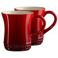 Le Creuset Cherry Stoneware 14 Ounce Tea Mug, Set of 2