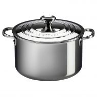 /Le Creuset Tri-Ply Stainless Steel Casserole with Lid, 4-Quart