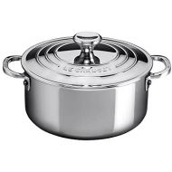 Le Creuset SSP3000-24 Shallow Casserole with Lid, 5.5 quart, Stainless Steel