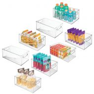 MDesign mDesign Deep Plastic Kitchen Storage Organizer Container Bin with Handles for Pantry, Cabinets, Shelves, Refrigerator, Freezer - BPA Free - 14.5 Long, 4 Pack - Clear