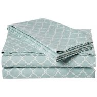Madison Park MP20-2362 Fretwork Cotton Sheet Set Cal King Aqua, California