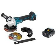 Makita XAG09Z 18V LXT Lithium-Ion Brushless Cordless 4-12-Inch  5-Inch Cut-OffAngle Grinder, with Electric Brake & BL1840B 18V LXT Lithium-Ion 4.0Ah Battery