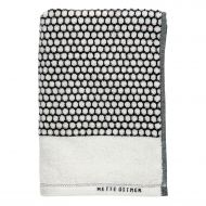 Mette Ditmer Grid Bath Towel 70x140 cm, BlackOff-White
