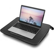 Lap Desk NNEWVANTE Multi-Function Knee Desk for Laptop MacBook iPad Tablet Fits up to 18in Portable Hand Pilliow, Comfortable Cushion- Square Black