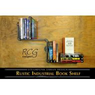 RCGdesignsETSY The Calvin - Industrial Pipe Bookshelf (2 configurations) - rustic, steampunk