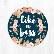 Fieldtrip Coworker Gift Mouse Pad Boss Gift School Supplies Coral Desk Decor Dorm Decor Floral Cute Peach Office Supplies Like a Boss Navy Blue