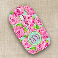 KikoPrints Lilly Pulitzer Inspired Wireless Mouse Monogrammed Personalized Optical Mouse