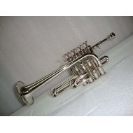 OSWAL BbA Silver Nickel Piccolo Trumpet With Free Case+Mouthpiece