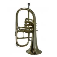OSWAL Bb/F Silver Nickel 4 Valve Flugel Horn+W/Case+Mouthipiece