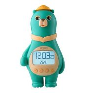 Oregon Scientific BC100A_O Model BC100 Big Bear Clock with Temperature and Calendar, LCD Display with Backlight, LEGO-like Feet for Placement on Any LEGO Base-plate, Orange
