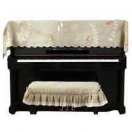 PANDA SUPERSTORE Embroidered Spring Bird Textile Piano Dust Cover Half Upright Piano Cover Cloth Keyboard Cover