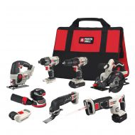 PORTER-CABLE PORTER CABLE 20-Volt Max Lithium-Ion 8-Tool Combo Kit, PCCK6118