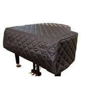 Piano Covers and More!!! ~ Grand Piano Protective Covers Grand Piano Cover/Piano Cover - 9 Black Quilted Custom Made to Your piano Size| Premium Grand Piano Protective Cover | Bundle with L&L Design Piano-Table Topper (2 Items)