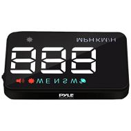 Pyle Universal 3.5'' Car HUD - Head-Up Display Multi-Color Windshield Screen Projector Vehicle Speed & GPS Navigation Compass, Plug & Play - (PHUD12)