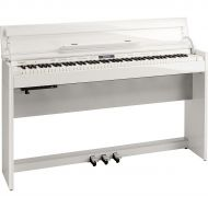 Roland},description:This package contains Roland's new DP603 home digital piano and the matching bench in white. It is a bold, fresh and clean look, ideal for the modern home. When