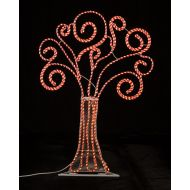 Roman 4 Pre-Lit Peppermint Twist Swirl Rope Light Christmas Tree Outdoor Decoration