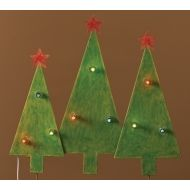Roman Christmas Tree Trio Outdoor Lighted Outdoor Decoration 2.5