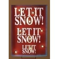 Roman 34 Lighted Let it Snow Christmas Sign Outdoor Decoration