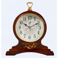 SHAUA Vintage Hotel Style Retro Old Fashioned Decorative Quiet Non-Ticking Sweep Second Hand, Quartz Analog Desk Clock