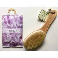 SPA Touch Me  Wooden Contour Bath Body Brush 100% Boar Bristle (Free Scented Sachet with Purchase)