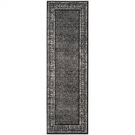 Safavieh Adirondack Collection ADR110A Black and Silver Vintage Distressed Runner (26 x 20): Home & Kitchen
