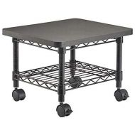 Safco Products Under Desk PrinterFax Stand 5206BL, Black Powder Coat Finish, Swivel Wheels for Mobility