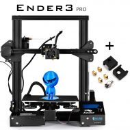 SainSmart x Creality Ender-3 PRO 3D Printer with Upgraded C-Magnet Build Surface Plate Mat, UL Certified Power Supply, Extra 4 Nozzles, Build Volume 8.7 x 8.7 x 9.8