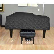 SheetMusicNorthwest Yamaha C5 Piano Cover - Quilted Black Nylon with Side Splits