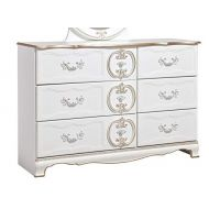 Signature Design by Ashley Ashley Furniture Signature Design - Korabella Dresser - 6 Drawers -French Inspired Traditional Styling - White