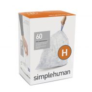 Simplehuman simplehuman Code H 60-Pack 30-35-Liter Custom-Fit Liners in Clear