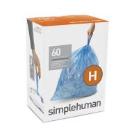 Simplehuman simplehuman Code H 60-Pack 30-35-Liter Custom-Fit Recyclable Liners in Blue