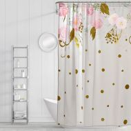 Simply Whimsical Floral Confetti Shower Curtain in BlushGold