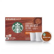 Starbucks Breakfast Blend Medium Roast Single Cup Coffee for Keurig Brewers, 6 Boxes of 10 (60 Total