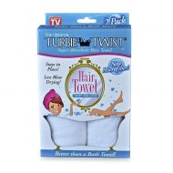 The Original Turbie Twist Super-Absorbent Hair Towel in White (Set of 2)