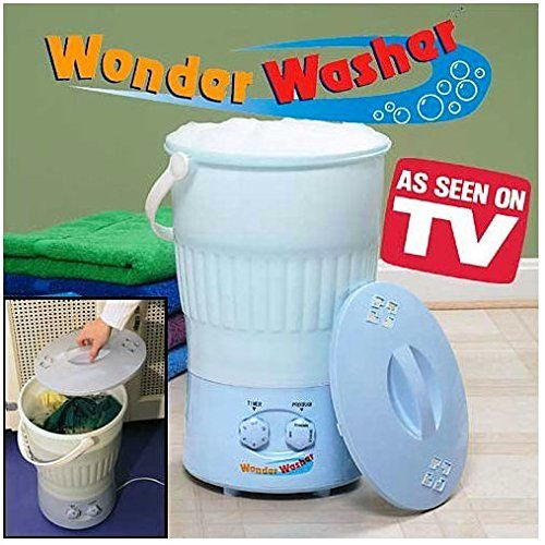 As Seen On TV Wonder Washer - a Portable Mini Clothes Washing Machine That goes Anywhere - Ideal for Cleaning Clothes On the Go - 10 Liter Capacity