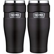 Thermos King Vacuum Insulated 16oz Travel Tumbler (Matte Black) - 2PK