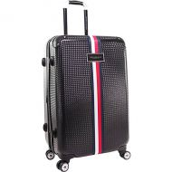 Tommy Hilfiger Luggage Basketweave 24 Expandable Hardside Checked Spinner Luggage