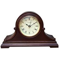Vmarketingsite Mantel Clocks Wood Mantel Clock with Westminster Chime. This Solid Wood Decorative Chiming Mantel Clock is Battery Operated. Quiet, Shelf Mantel Clock Westminster Ch