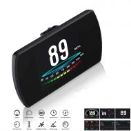 WL Upgrade T800 Universal Car HUD Head Up Display Digital GPS Speedometer with Compass Speedup Test Brake Test Overspeed Alarm 4.3 HD LCD Display for All Vehicle (GPS Model)