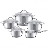 WMF Silit Nobile 9 piece cookware set silver