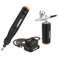 [아마존베스트]WORX WX992L 20V MAKERX 2Pc Combo Kit - Rotary Tool + Air Brush